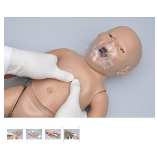 德国3B Scientific®新生儿CPR和综合护理模型,带控制器,增加胫骨穿刺和静脉通路